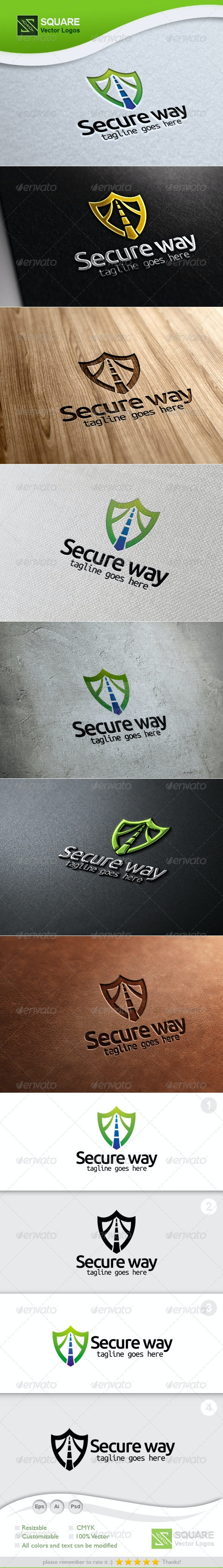 Secure, Way Vector Logo Template