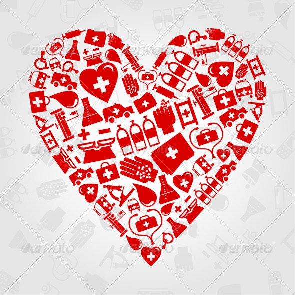 Medical heart2 - Health/Medicine Conceptual