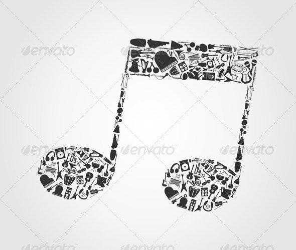 Musical note3 - Miscellaneous Vectors