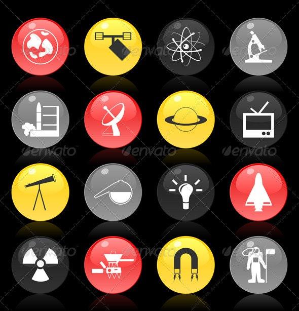 Scientific buttons - Miscellaneous Vectors