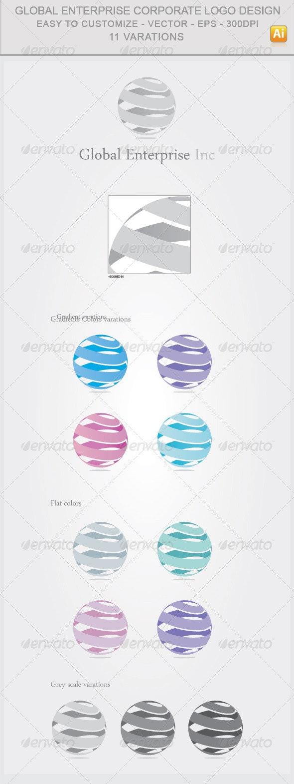 Global Enterprise Corporate Logo Design - Abstract Logo Templates