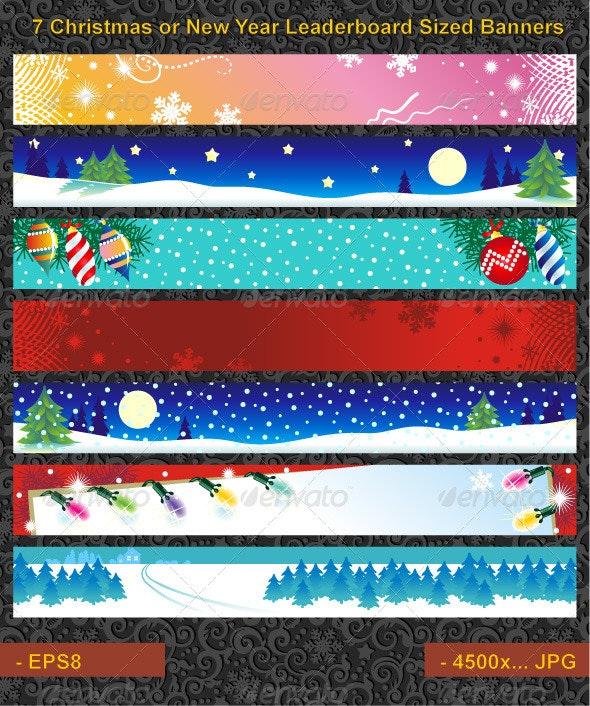Seven Christmas Banners - Christmas Seasons/Holidays