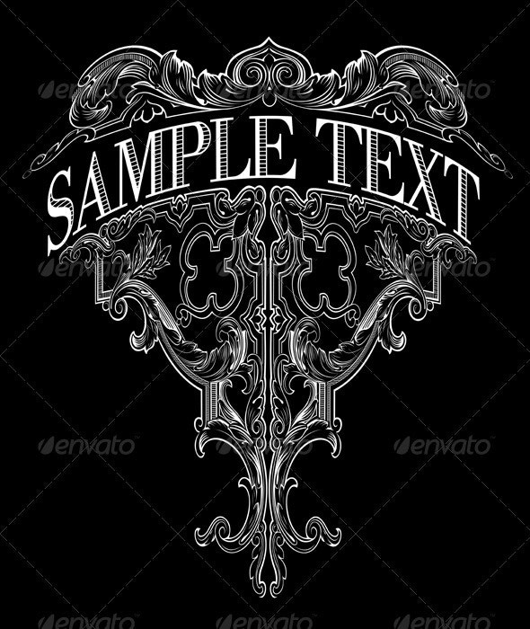 Decorative Vintage Ornate Banner.  - Retro Technology