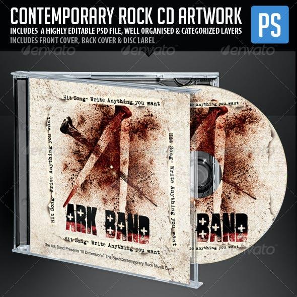 Contemporary Rock CD Artwork Template