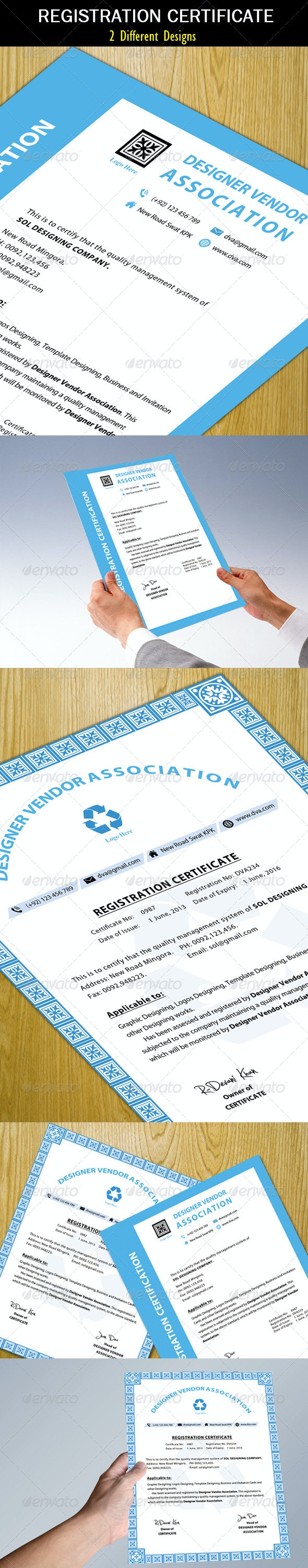 Registration Certificate (Clean) - Print Templates