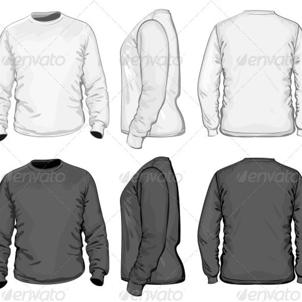 Men's T-shirt Design Template (Long Sleeve)