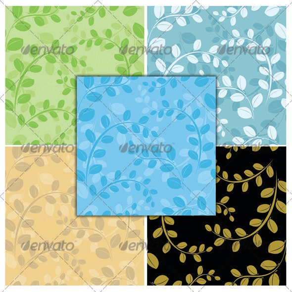 Colorful seamless floral patterns - Patterns Decorative