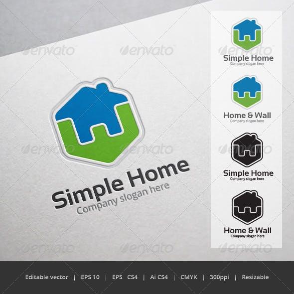 Simple Home Logo