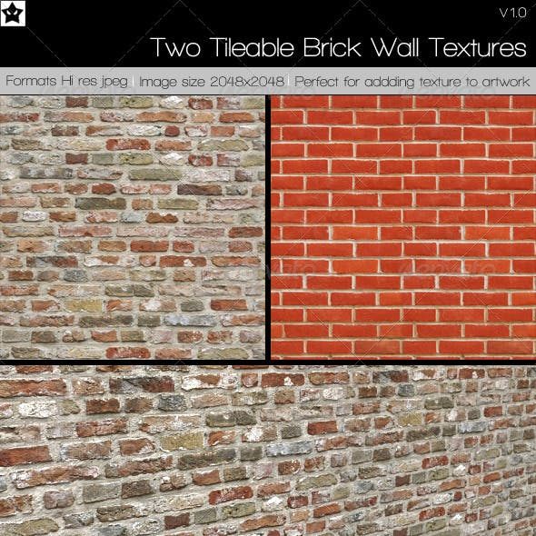 2 Tileable Brick Textures