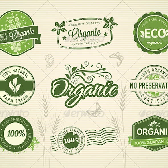 9 Organic Badges and Stamps