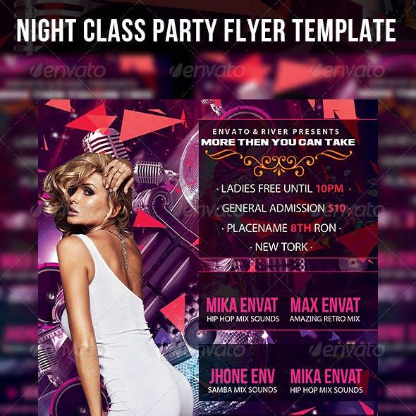 Night Class Flyer Template