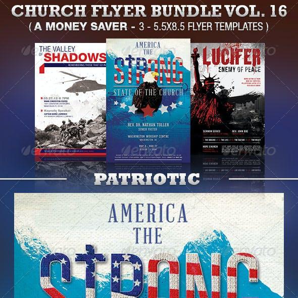 Patriotic Church Flyer Template Bundle Vol 16