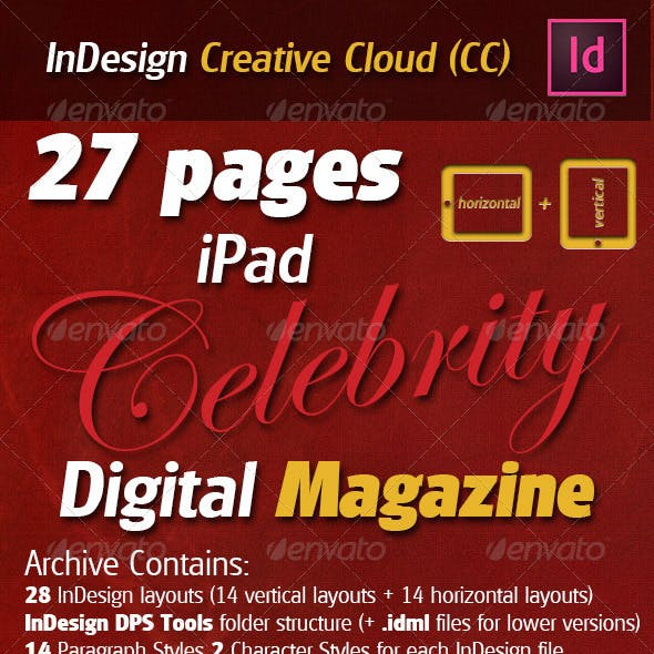 27 Pages iPad Celebrity Digital Magazine
