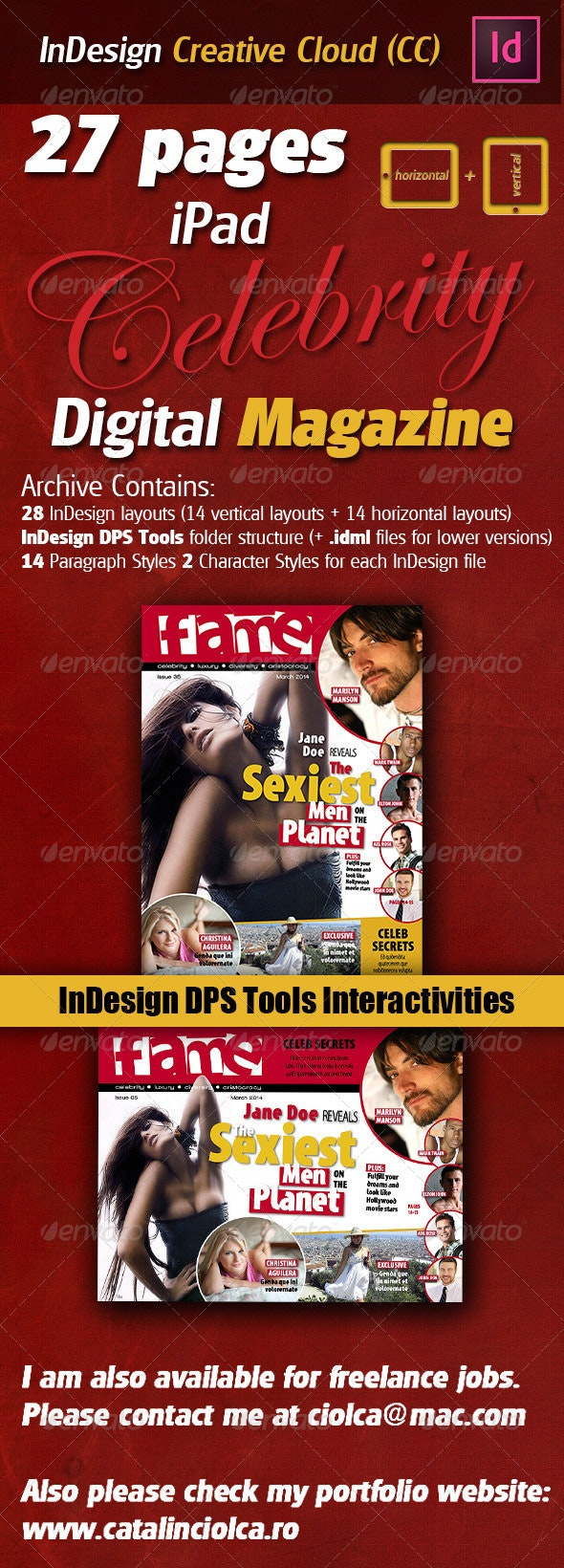 27 Pages iPad Celebrity Digital Magazine - ePublishing