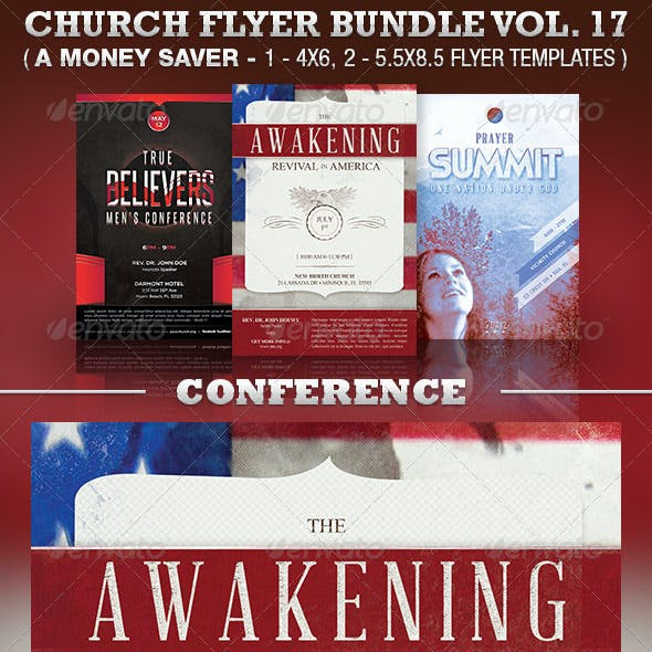 Conventions Church Flyer Template Bundle Vol 17