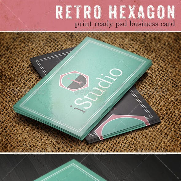 Retro Hexagon Business Card