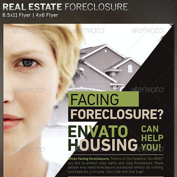 Real Estate Foreclosure Flyer Template