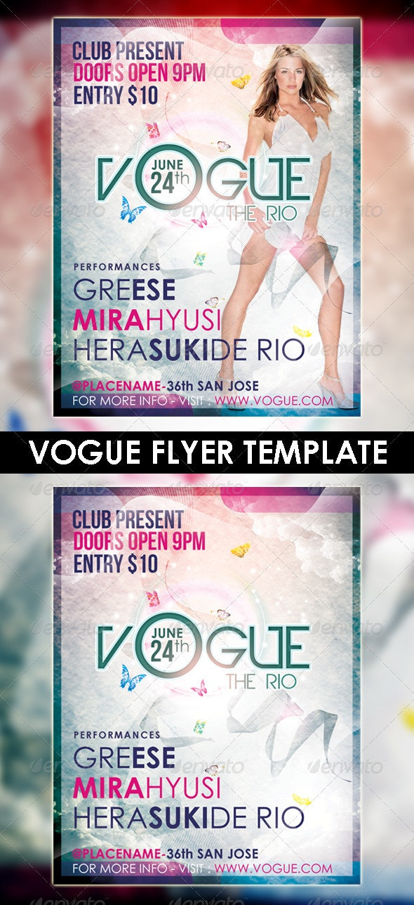 Vogue The Rio Flyer Template - Clubs & Parties Events