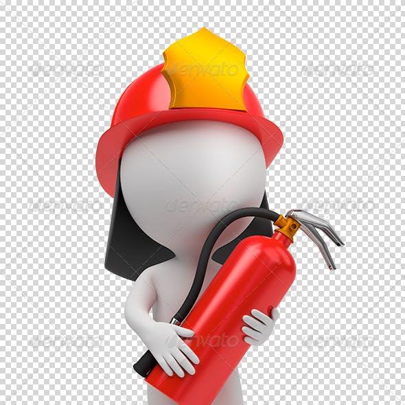 3d small people - fireman