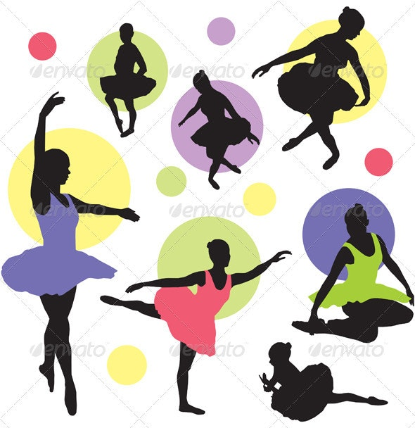 Vector ballet silhouettes - People Characters