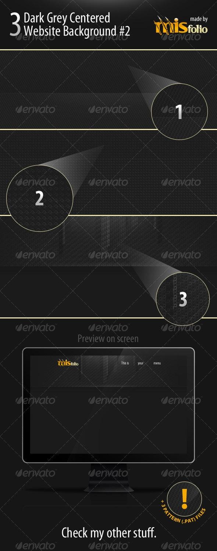3 Dark Grey Centered Website Background #2 - Miscellaneous Backgrounds