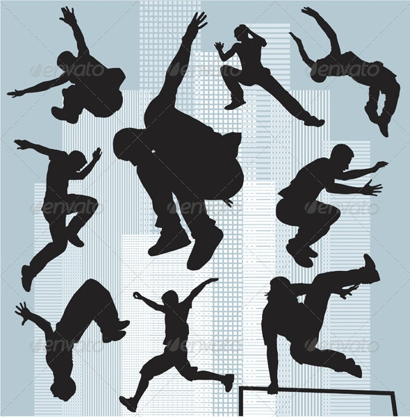 Silhouettes parkour - People Characters