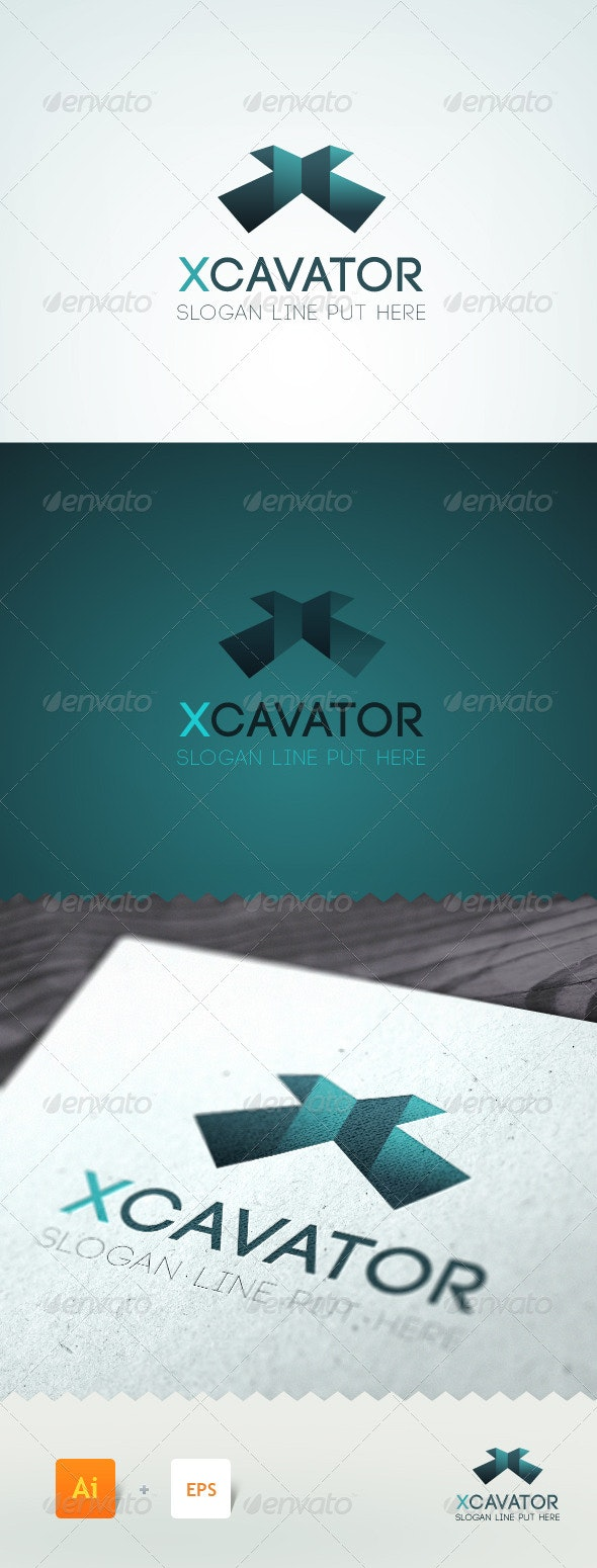 Xcavator - Letter 'X' Logo Template - Letters Logo Templates