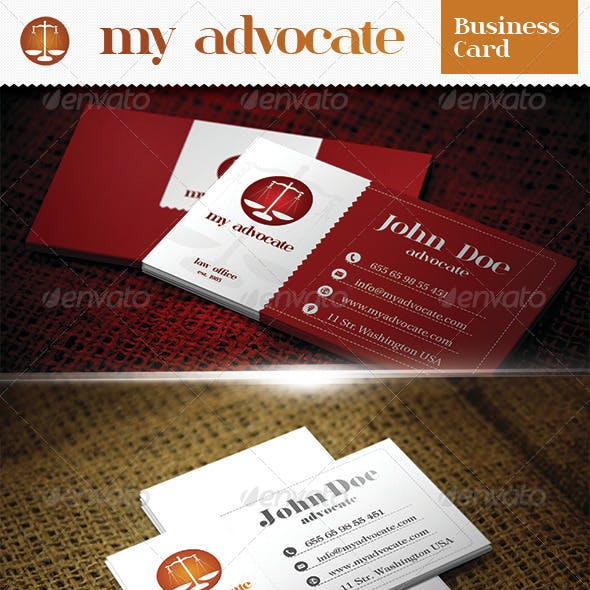 Advocate Business Card Templates Designs From Graphicriver