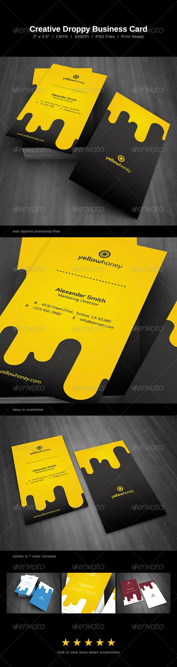 Droppy Business Card - Creative Business Cards