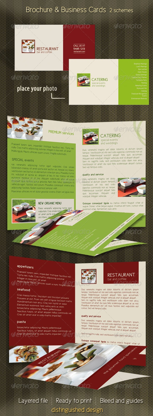 Brochure Business Card Stationary Mock-up - Stationery Print Templates