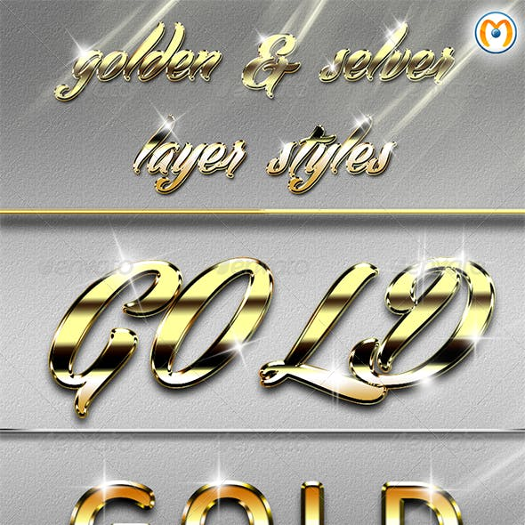 Golden & Silver Layer Styles