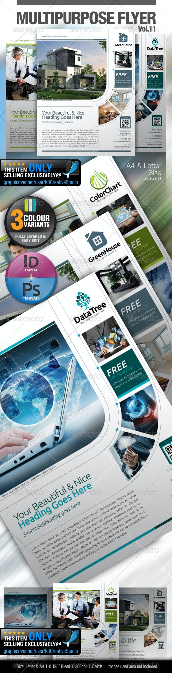 Multipurpose Business Flyer Vol.11 - Corporate Flyers