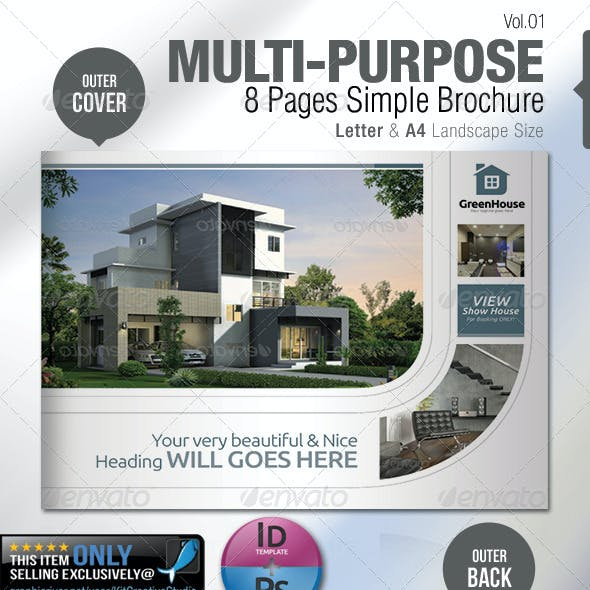 Multi-purpose 8 Pages Simple Brochure
