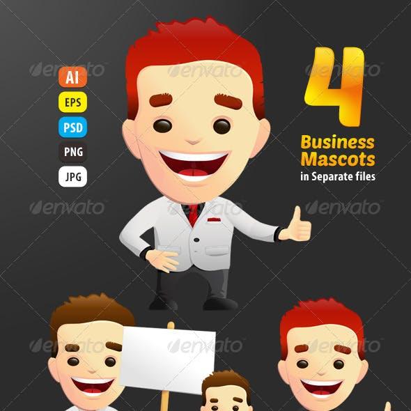 4 Business Vector Mascots