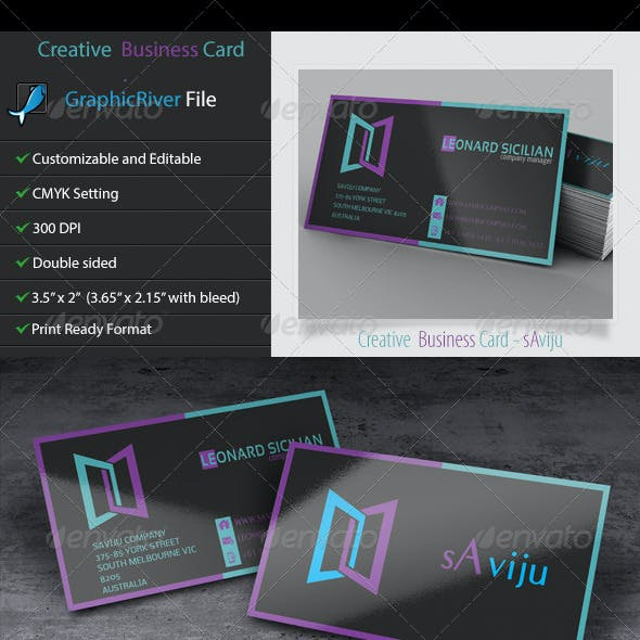 Creative and Unique Business Card 3 - sAviju