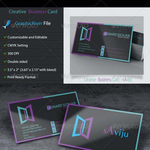 Creative and Unique Business Card 3 - sAviju