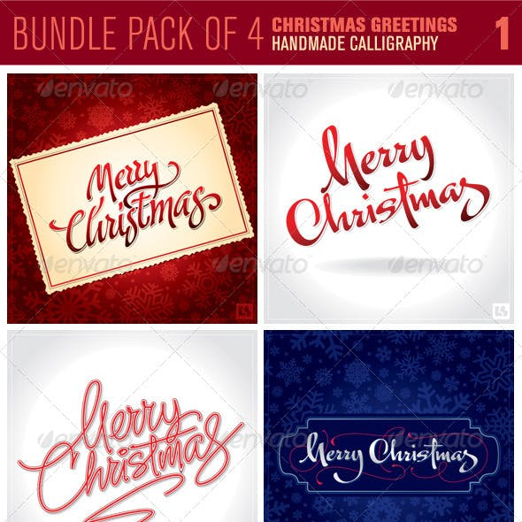 Christmas Greetings Bundle Pack 1
