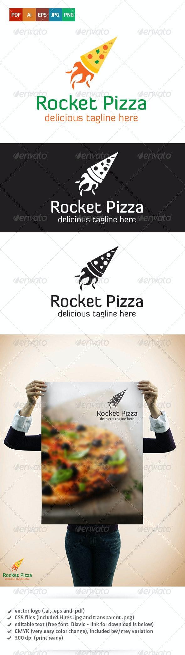 Rocket Pizza Logo