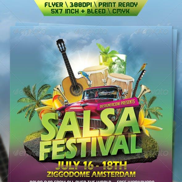 Salsa Festival Flyer