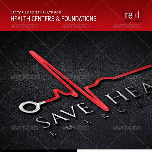 Health Centers and Foundations Logo Template