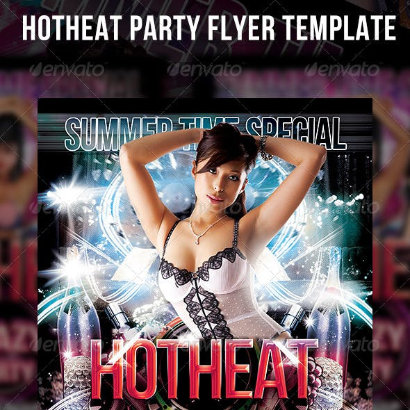 Hot Heat Party Flyer Template