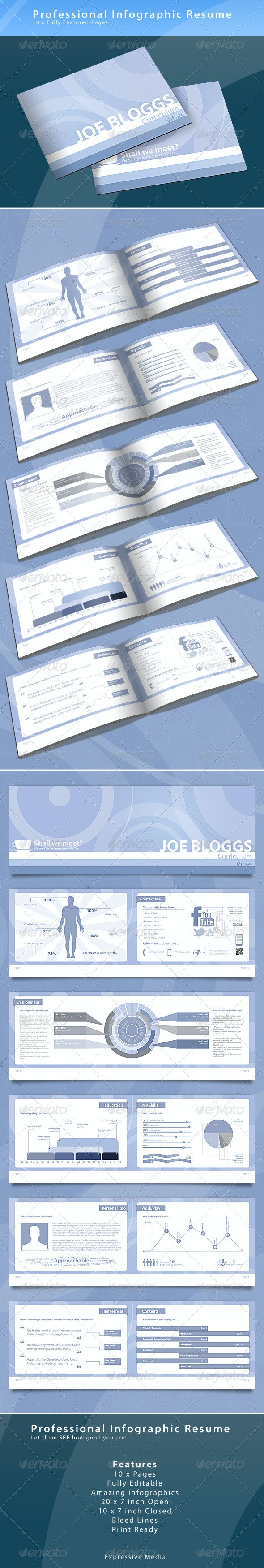 Infographic Resume Booklet - Resumes Stationery