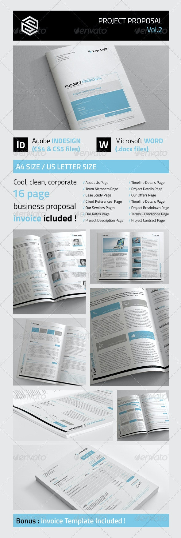 Project Proposal Vol2 - Proposals & Invoices Stationery
