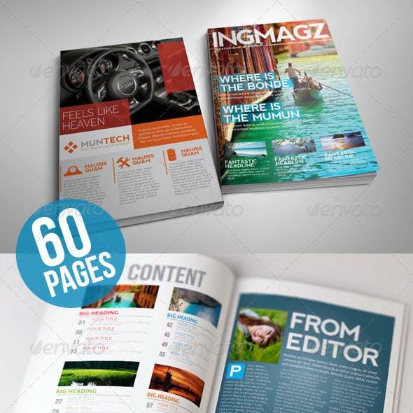 60 Page INGMAGZ Magazine Template