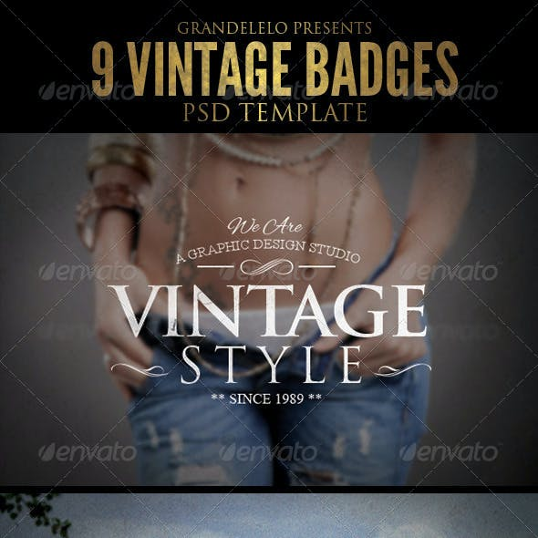 Vintage Badges Template