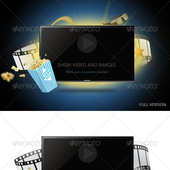 Tv Display Screen Mockup