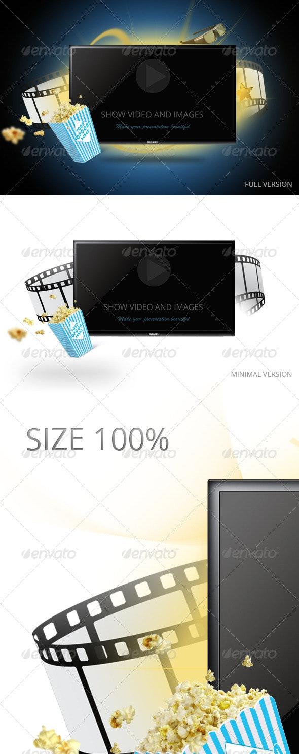 Tv Display Screen Mockup - Product Mock-Ups Graphics