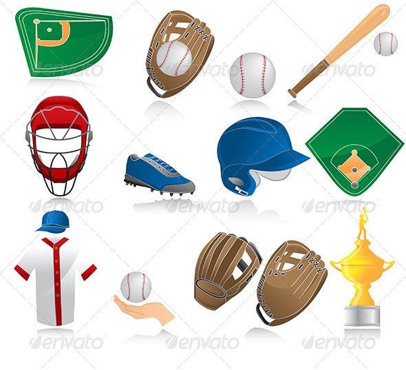 Baseball icons  - Icons