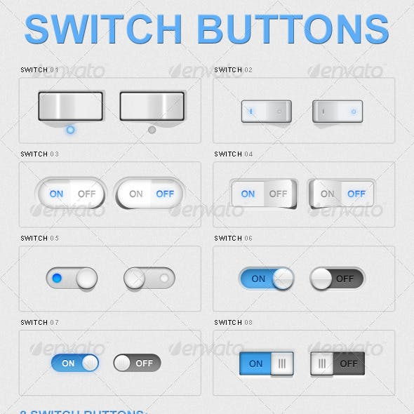 8 Switch Buttons