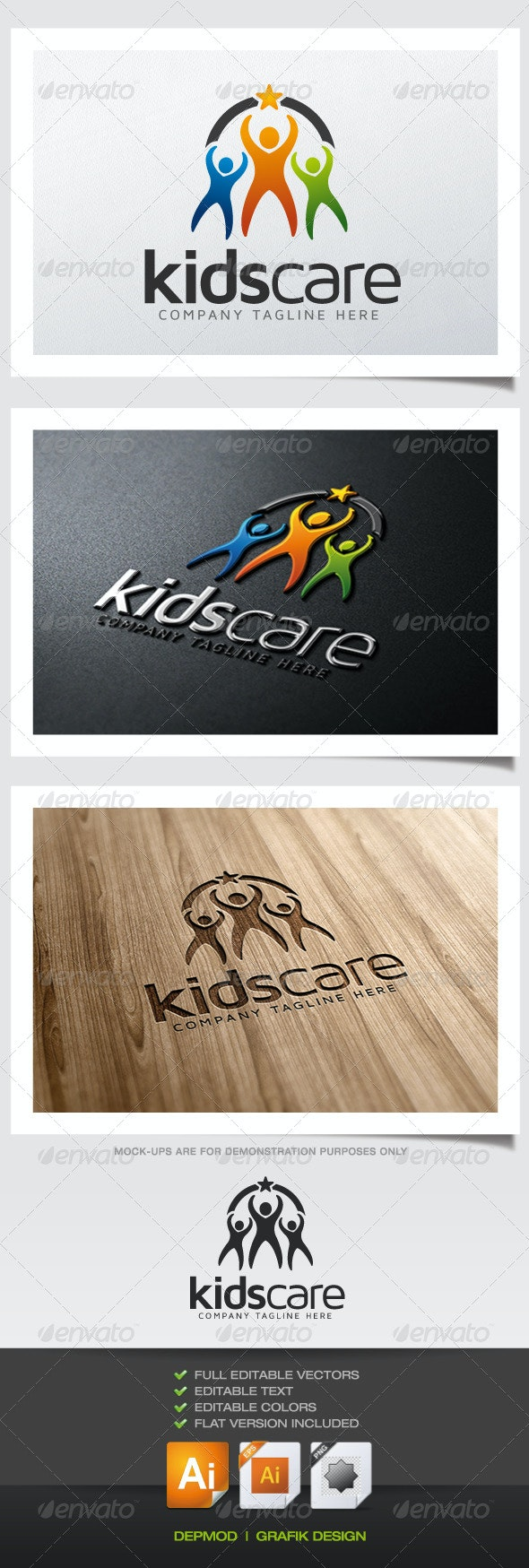 Kids Care Logo - Humans Logo Templates